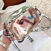 Inseva Louis Vuitton LV Women Shopping Leather PVC Transparent Jelly Shoulder Bag Crossbody Satchel