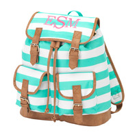 Mint Stripe Backpack