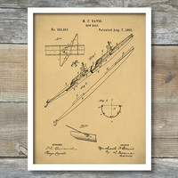 2 Man Rowing Scull Poster, 2 Man Rowing Scull Patent, 2 Man Rowing Scull Print, Rowing Scull Art, Rowing Scull Décor, P180