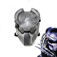Alien Vs Predator Lonely Wolf Mask With lamp Outdoor Wargame Tactical Mask Full Face CS Mask Halloween Party Cosplay Horror mask