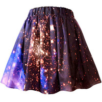 Starburst Cluster Galaxy Skirt | Shadowplaynyc | Space inspired clothing in nebula and galaxy prints