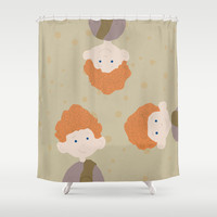 the triplets Shower Curtain by Studiomarshallarts