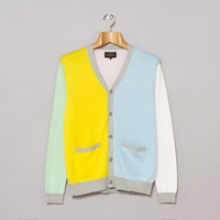 Beams Plus 12 Gauge Cardigan (Mint / Yellow / Sax / White / Pink) | Oi Polloi