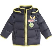 Baby Boys Navy 'Monster' Puffer Jacket