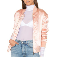 Finders Keepers Claude Bomber in Pink Sand | REVOLVE