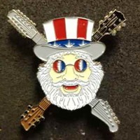 Jerry Garcia - Uncle Sam Hat Pin