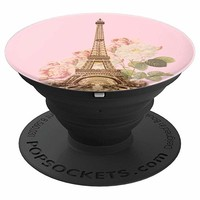 Eiffel Pink Paris Roses PopSocket - PopSockets Grip and Stand for Phones and Tablets