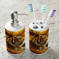 Sumatran Tiger Bath Set
