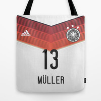 World Cup 2014 - Germany Müller Shirt Style Tote Bag by Maximilian San
