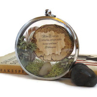 When I Saw you I Fell in Love.... Message in a Bottle Love Poem Message Necklace, Classic Love Quote Locket