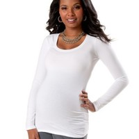 Motherhood Maternity: Long Sleeve Scoop Neck Maternity T Shirt
