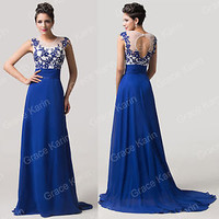 New Arrival~Long Bridesmaid Masquerade Evening Prom Party Dress Plus Size 2-16