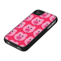 Cute Pink Pig Pattern iPhone 4/4S Case from Zazzle.com