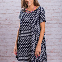 Anywhere With You Dress, Navy