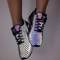 "LoveQ168""Adidas"" Chameleon Reflective Sneakers Sport Shoes"