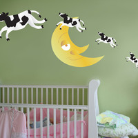 Graphic Wall Vinyl Decal Sticker Cow Over Moon #MGeise102