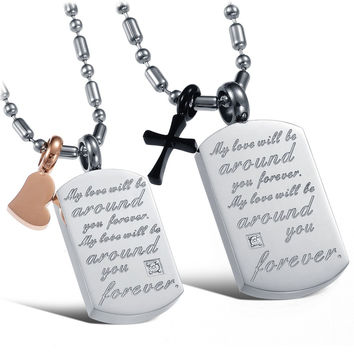 New Arrival Gift Jewelry Shiny Titanium Couple Accessory Stylish Korean Necklace With Christmas Gift Box [9509254852]