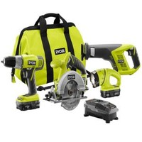 Ryobi, ONE+ 18-Volt Lithium-Ion Super Combo Kit (4-Tool), P883 at The Home Depot - Mobile