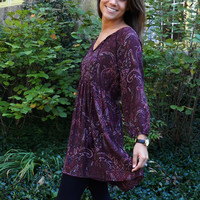 Simple and Free Dress, Burgundy