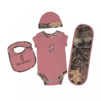 Browning Baby Camo 4 Piece Set - Dusty Rose