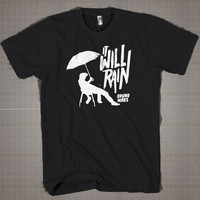 It Will Rain - Bruno Mars Silhouett  Mens and Women T-Shirt Available Color Black And White