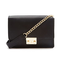 Faux Leather Chain-Strapped Crossbody