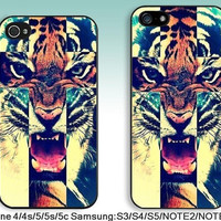 For iPhone 4 case iPhone 4s Case iPhone 5 Case iPhone 5s Case iPhone 5c case Samsung S5 S4 S3 Case samsung note3 note2 case---Tiger