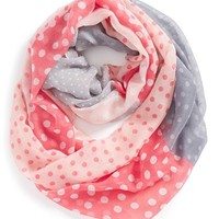 Girl's The Accessory Collective Woven Polka Dot Infinity Scarf