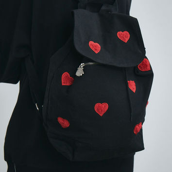 Lazy Oaf Fur Heart Rucksack - View all - New In - Womens