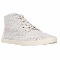 TOMS Paseo High Lace-Up Perforated Fashion Sneakers - Whisper Suede