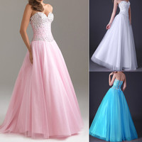 2013 New Womens Ball Gown Party Cocktail Evening Wedding Bridesmaid Long Maxi Prom Dress