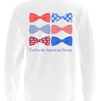 'Tied to the American Dream' Long Sleeve Pocket Tee