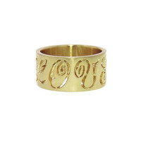 Wide Carved LOVE Band