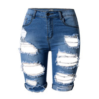 Hole Jeans Summer Lady Denim Short