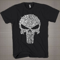 PUNISHER  Mens and Women T-Shirt Available Color Black And White