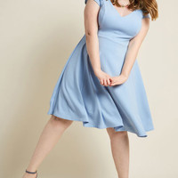 Date Night Done Right A-Line Dress in Periwinkle
