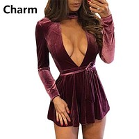 Winter Autumn Spring Women Plus Size Velvet Dress Deep V Neck Long Sleeve Bandage Dress Evening Party Vintage Vestido Mini Dress