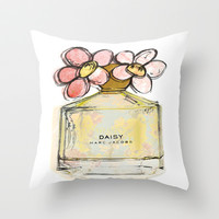 Daisy - Marc Jacob's Perfume Illustrated Throw Pillow by Amy frances Illustration | Society6
