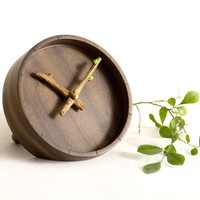 BUD Desk Clock - Creative Wooden Clock for Office Table