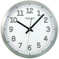 9In Wall Clock Wht Face
