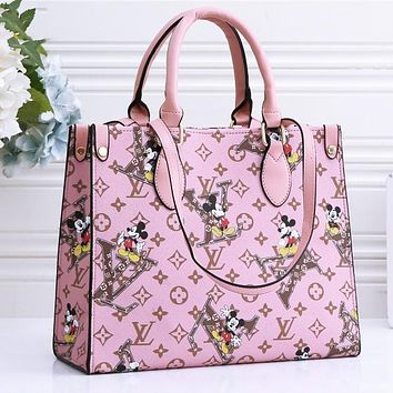 Bunchsun Louis Vuitton Mickey LV Monogram Crossbody Bag Handbag Square Bag Shopping Bag
