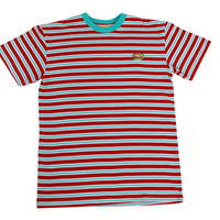 RAINBOW GOLF STRIPED SHORT SLEEVE RED/WHITE/BLUE