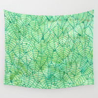 Green wall Wall Tapestry by Savousepate