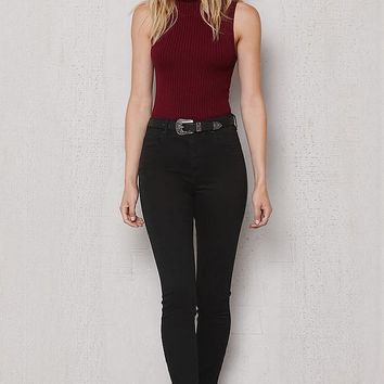 PacSun Worn Black Ripped High Rise Skinny Ankle Jeans at PacSun.com