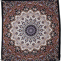 Amitus Exports ® 1 X Big Star Indian Star Mandala Purple White Black Multi Color Queen Size Multi-purpose Handmade Tapestry 100% Cotton Fabric Hippy Indian Mandala Throws Bohemian Tapestries