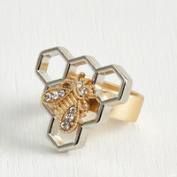 Quirky You Have My Buzz Word Ring by ModCloth