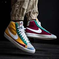 Nike Blazer Mid Men's and Women's Trendy Wild Sneakers Shoes