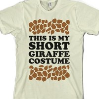 Short Giraffe Costume-Unisex Natural T-Shirt