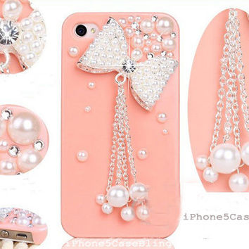 iPhone 4 Case, iPhone 4s Case, iPhone 5 Case, Pink iPhone 4 case, Cute iPhone 4 case, iPhone 4 bow case, iPhone cases for mothers