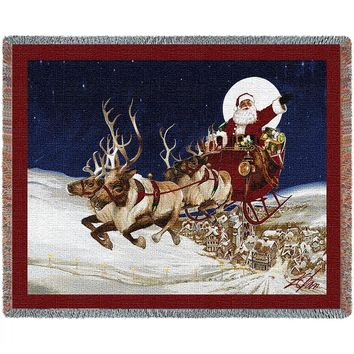Merry Christmas to All Afghan Throw Blanket